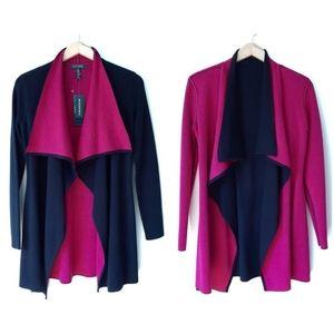 Ralph Lauren Black Pink Wool Cardigan Sweater NWT